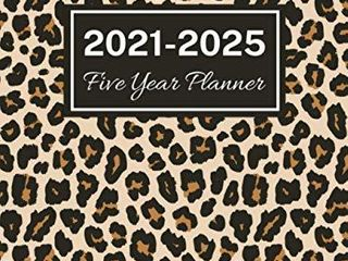 2021 2025 Five Year Planner  leopard Print Cover  60 Months Calendar  5 Year Monthly Appointment Notebook  Agenda Schedule Organizer logbook with Holidays and Inspirational Quotes
