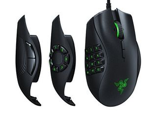 Razer Naga Trinity Gaming Mouse  16 000 DPI Optical Sensor   Chroma RGB lighting   Interchangeable Side Plate w  2  7  12 Button Configurations   Mechanical Switches