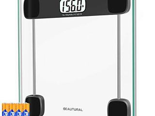 Beautural Digital Bathroom Scale for Body Weight 400lb