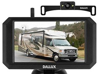 DAllUX Wireless Backup Camera with Stable Digital Signal 5 Inch Monitor HD 1080P Front Rear View Night Vision Waterproof Camera for Car Pickup Truck RV SUV Van Camper license Plate Easy Installation