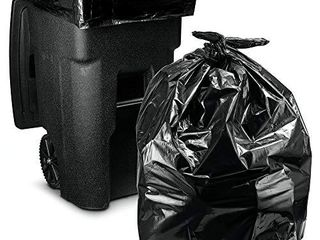 95 100 Gallon  50 Count w Ties  Wholesale  large Black Heavy Duty Trash Bags  Super Value Pack   Black