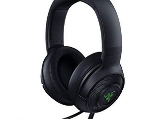 Razer Kraken X USB Ultralight Gaming Headset  7 1 Surround Sound   lightweight Frame   Green logo lighting   Integrated Audio Controls   Bendable Cardioid Microphone   For PC   Classic Black
