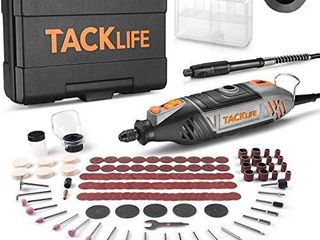 TACKlIFE Rotary Tool Kit with MultiPro Keyless Chuck and 150 Pcs Accessories and Flex Shaft  Variable Speed and Powerful Motor Perfect for Crafting and DIY Projects   RTSl50AC