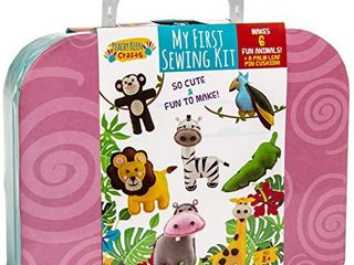 My First Sewing Kit   Starter Sew Set for Kids DIY Stitching with Travel Case   Perfect Craft for Beginner