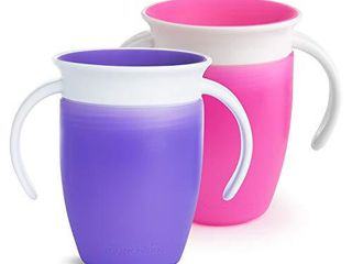 Munchkin Miracle 360 Trainer Cup  Pink Purple  7 Oz  2 Count