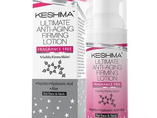 Keshima Face   Neck Firming Cream   Fragrance Free   Tightens loose and Sagging Skin   Smooths Wrinkles and Fine lines   2 Oz