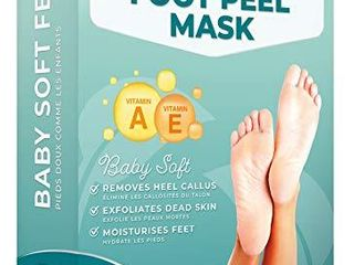 Dermatologically Tested   Foot Peel Mask   2 Pairs   Effective For Cracked Heels Repair  Remove Dead Skin  Callus   Dry Toe Skin   Baby Soft Feet   Exfoliating Peeling Natural