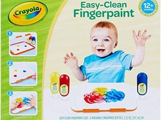 Crayola Washable Finger Paint Station  less Mess Finger Paints for Toddlers  Kids Gift