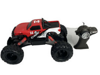 Red Monkey Grip Remote Control Toy Monster Truck
