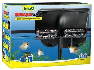Tetra Whisper EX 70 Filter For 45 To 70 Gallon aquariums  Silent Multi Stage Filtration