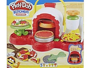 Play Doh Stamp  n Top Pizza Oven Toy with 5 Non Toxic Play Doh Colors