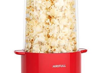 HIRIFUll Hot Oil Popcorn Popper Maker  Electric Stir Popcorn Machine for Home  ETl Certified  BPA Free  with Oil Scoops and Kernel Measuring Cup  Great for Home Movie  Party
