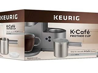 Keurig K Cafe Milk Frother Cup Replacement Part or Extra  Hot and Cold Frothing  Compatible with Keurig K Cafe Coffee Makers Only  Nickel