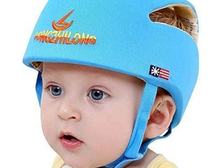 Huifen Baby Children Infant Toddler Adjustable Safety Helmet Headguard Protective Harnesses Cap Blue  Providing Safer Environment When learning to Crawl Walk Playing Baby Infant Blue Hat  Blue