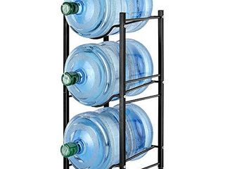 Water Bottle Holder Water Jug Rack  5 Gallon Water Bottle Organizer for 3 Tiers Storage  Black