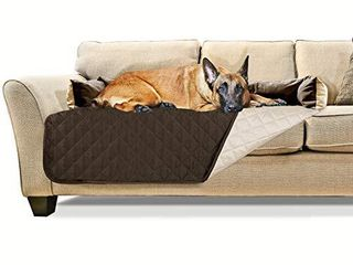 Furhaven Pet Furniture Cover   Sofa Buddy Two Tone Reversible Water Resistant living Room Furniture Cover Protector Pet Bed for Dogs and Cats  Espresso and Clay  Extra large