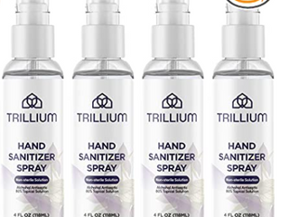 Pack of  4  Trillium Hand Sanitizer Spray