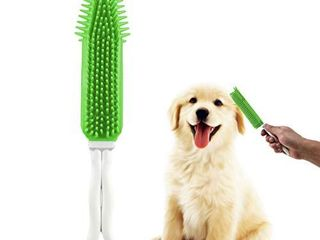 COPACHI Pet Hair Remover Brush Portable Multi Purpose Rubber Brush for Furniture  Carpet  Clothes  Car  Auto and leather Dogs Cats Hair lint Massage Brush  Green