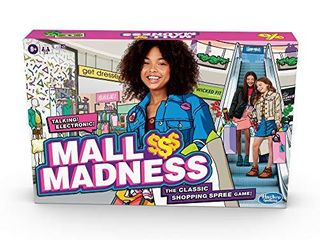 Hasbro Gaming Mall Madness Game  Talking Electronic Shopping Spree Board Game for Kids Ages 9 and Up  for 2 to 4 Players