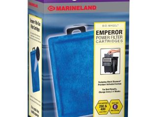 Marineland Emperor Power Filter Cartridge Rite Size E  4 Count  Replacement Cartridge For Aquarium Filtration