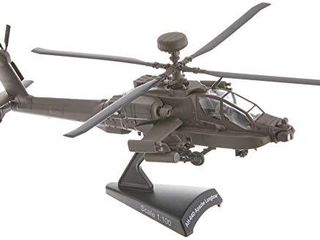 Daron Postage Stamp Boeing AH 64D Apache longbow 1 100 Scale Diecast Display Model with Stand