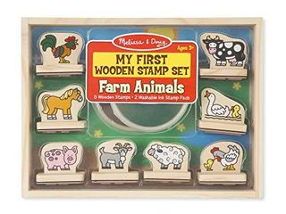 Melissa   Doug First Wooden Stamp Set Farm Animals