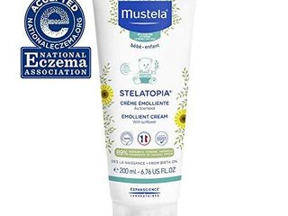 Mustela Stelatopia Emollient Cream  Baby Cream  for Eczema Prone Skin  with Natural Avocado Perseose  Fragrance Free  6 76 Fl Oz