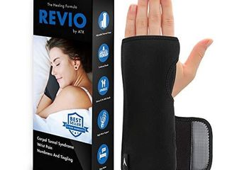 ATX Night Sleep Support Wrist Brace   Carpal Tunnel Relief   Fits Both left   Right Hand   Removable Metal Splint and Cushioning Beads for Painless Sleep   Men and Women