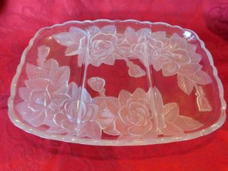 Beautiful Roses Etched DividedTray