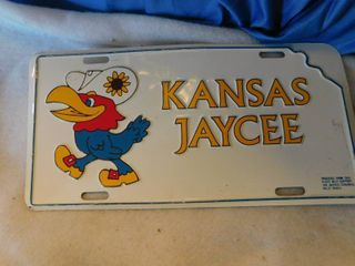 Vintage Kansas Jaycees license Plate