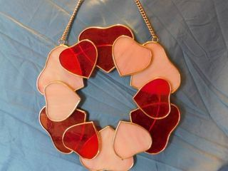 Glass Heart Suncatcher Wreath