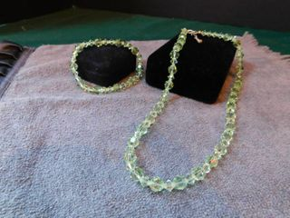 Cut Glass Bead Necklace   Bracelet