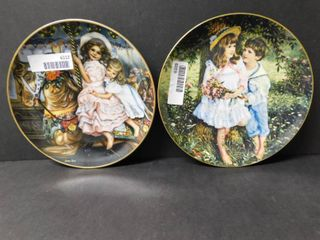 RECO Collector Plates  little Sweethearts   Carousel Magic    2 Items