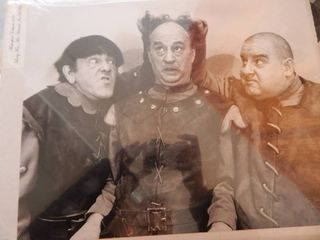 Rare Photo Reprint of Three Stooges Moe  larry   Curly