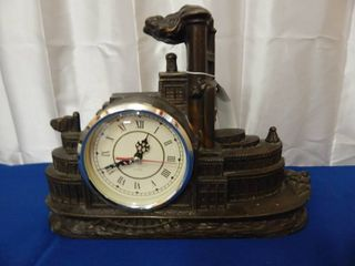 Bronze Steamship Mantel Clock