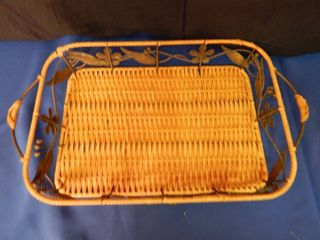 Wicker Tray   VERY NICE