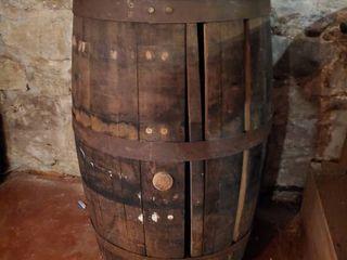 Wine Barrel On Casters