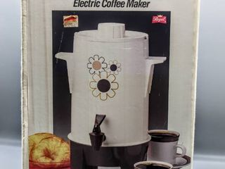 Vintage Regal Electric Coffee Maker   Poly Perk 10 20 Cup
