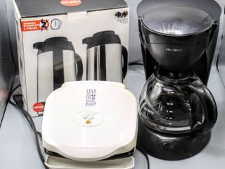 Kitchen lot   Copco 1 QT Thermal Carafe  Mr  Coffee Pot   George Foreman Grill