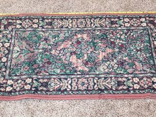 Small Area Throw Rug 41  long  Rose Color Trim