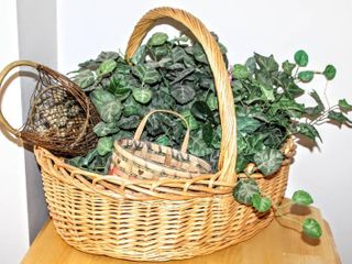 Decorative Baskets largest 26  x 24    Faux Foliage
