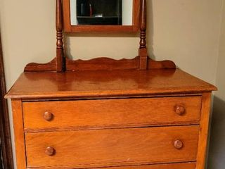 Antique Dresser with Swivel Mirror
