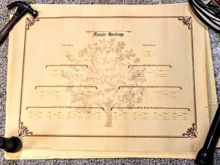 TONS  2  Boxes of Blank Family Heritage Family Tree Posters 30  x 23