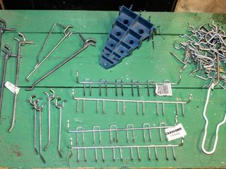 Tons of Peg Board Hooks and Set of Wrenches