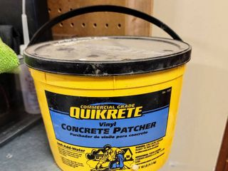 Quikrete Vinyl Concrete Patcher   almost full