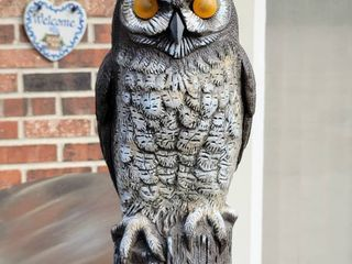 16  Great Horned Owl Scarecrow Garden Statue