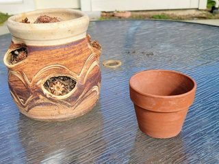 Pottery Strawberry Pot   Small Terracotta Pot
