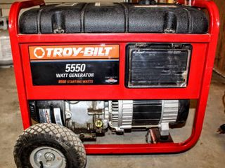 TROY BIlT 5550 Watt Portable Gas Generator Backup Power Home Model   01919