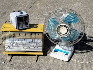 1  Vintage Air King Fan Forced Heater   1  Small Fan Heater w Thermostat    1  Vintage Tatung Fan