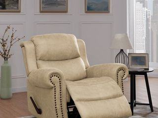 Homesvale Rocker Rolled Arm Recliner Chair in Distressed Faux leather
